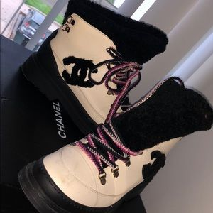 Chanel snow boots